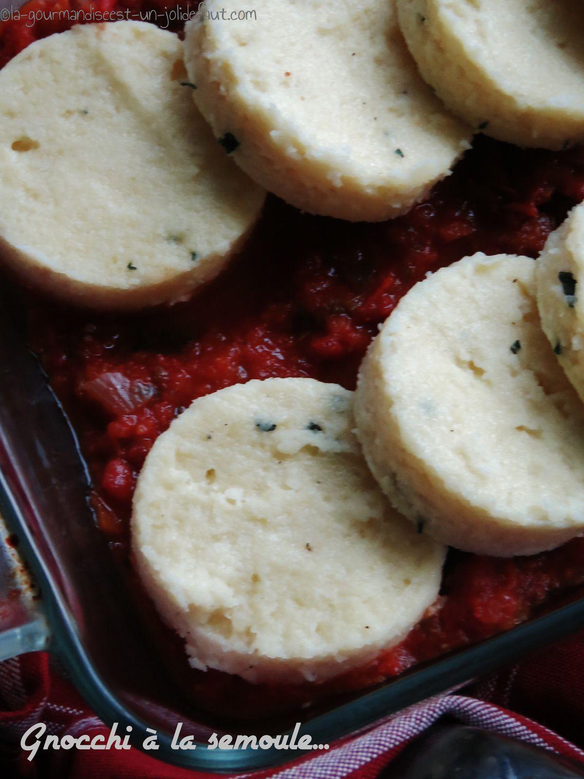 Gnocchi de semoule à la sauge et au poivre noir