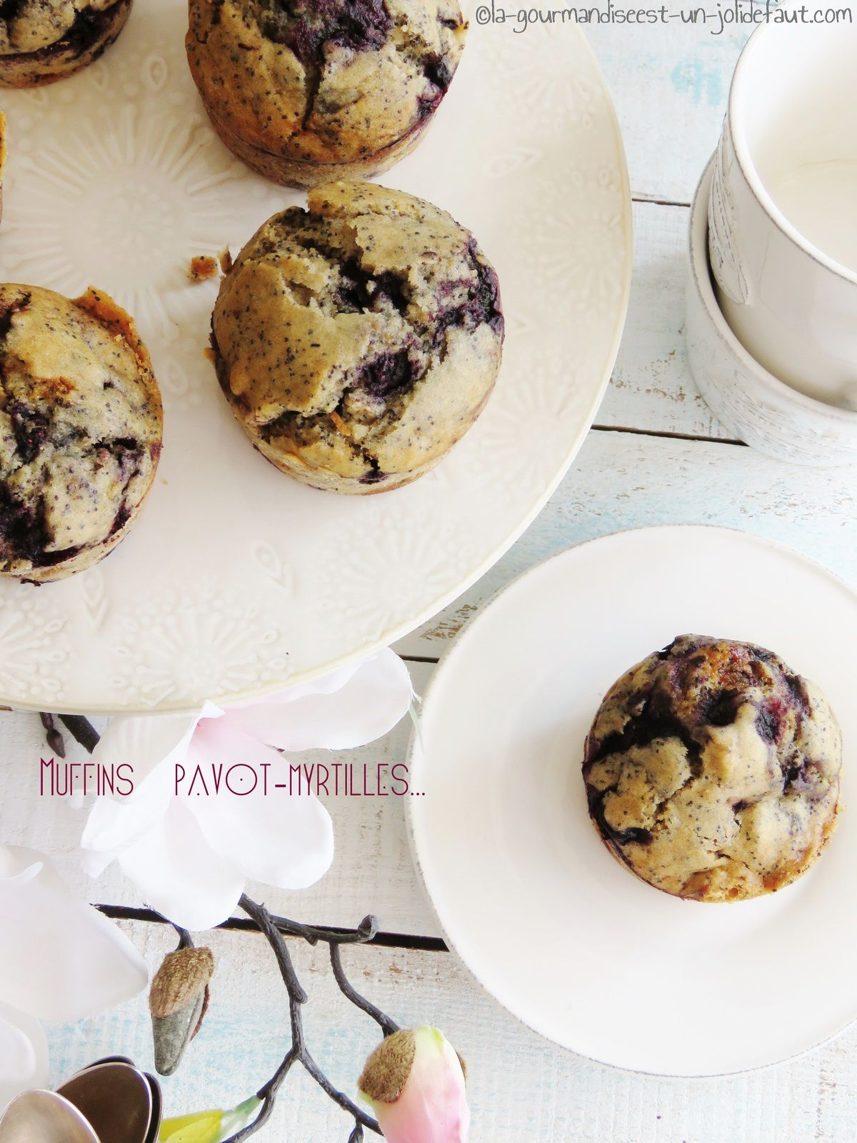 muffins pavot-myrtilles