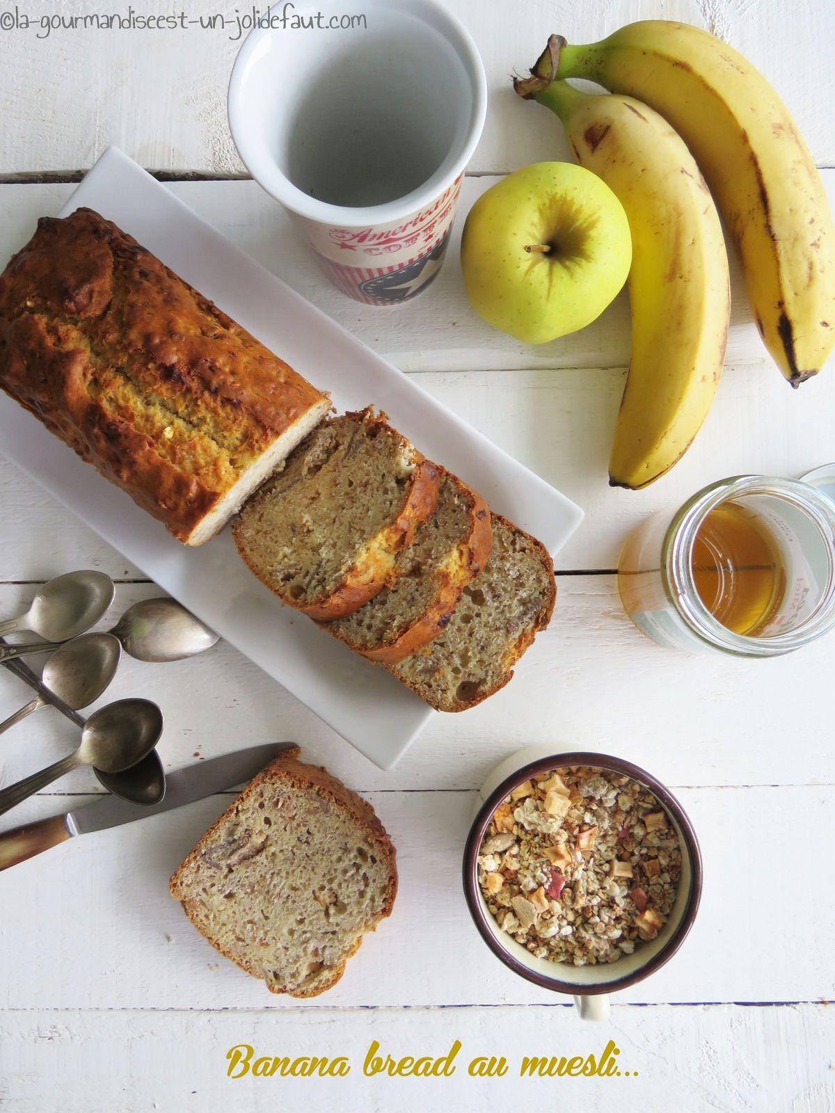 Banana bread au muesli
