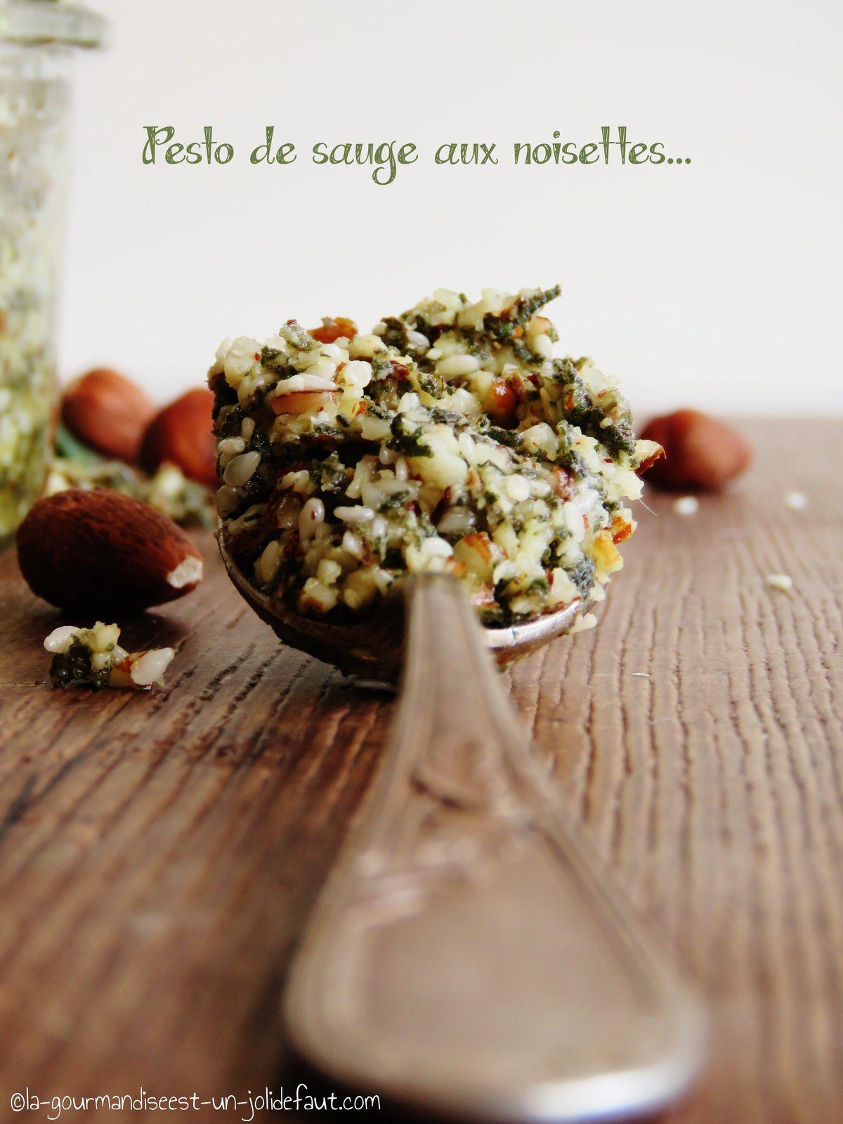 Pesto de sauge aux noisettes