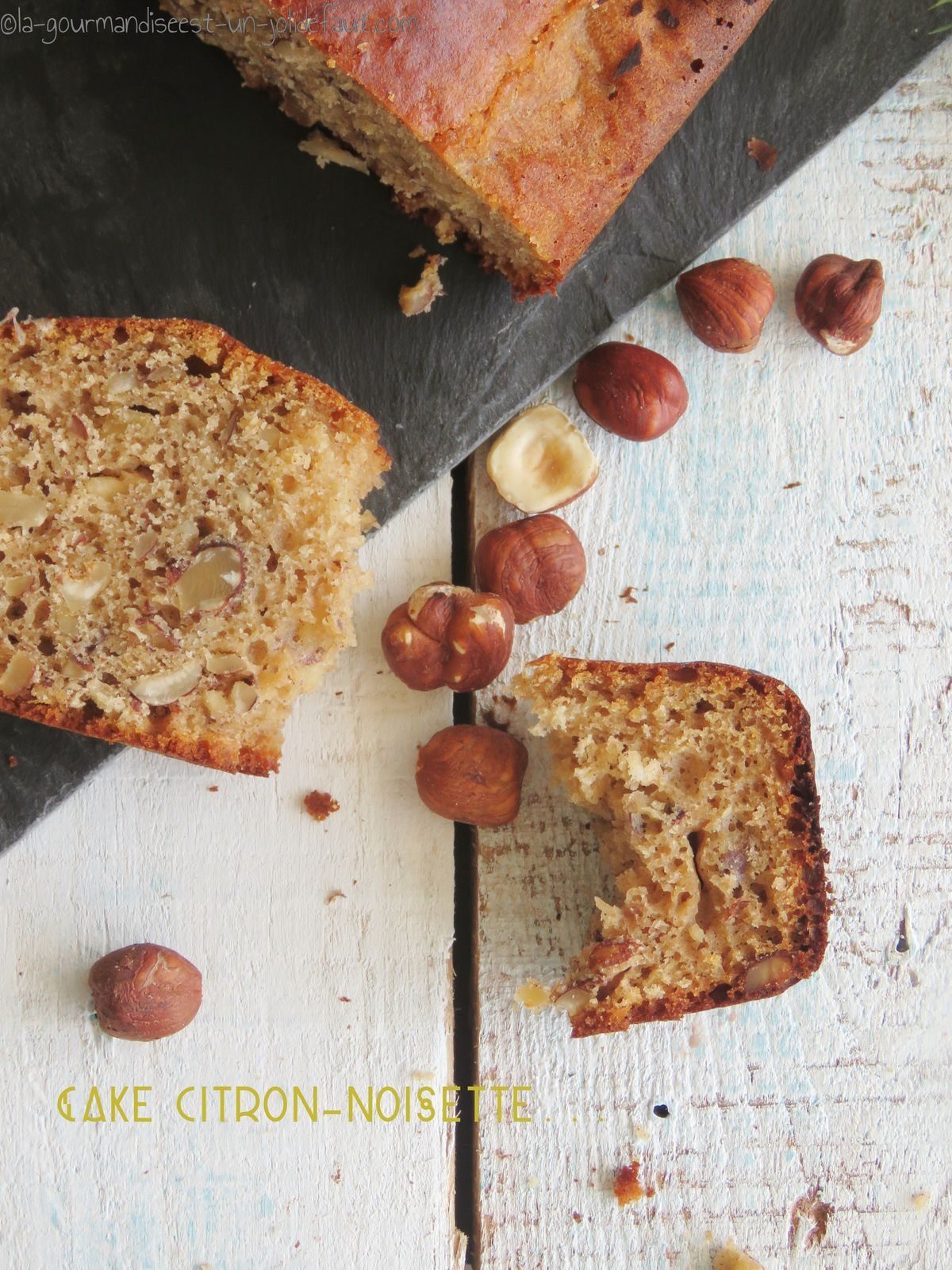 Cake citron-noisette