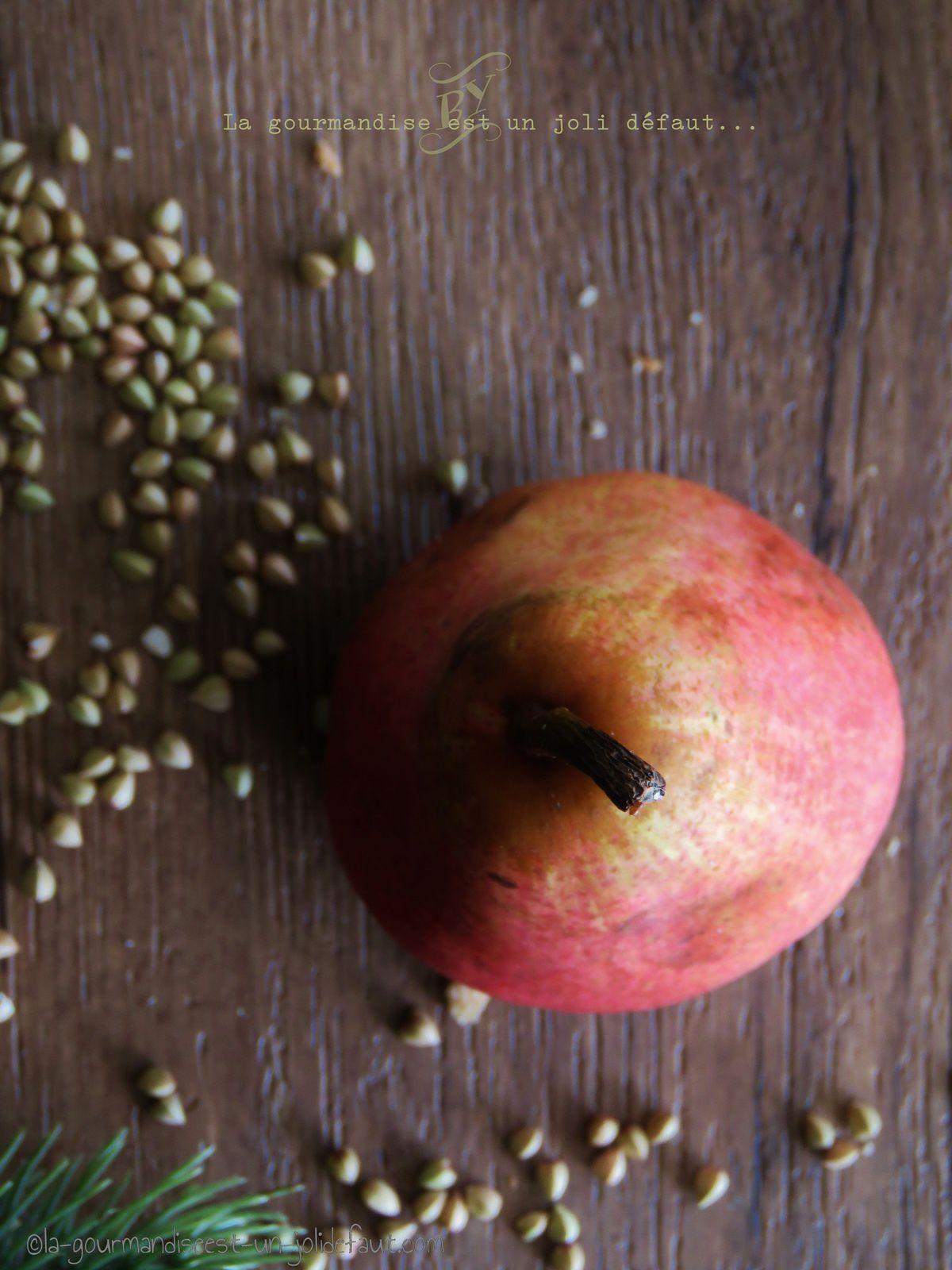 Sablés au sarrasin et poire séchée