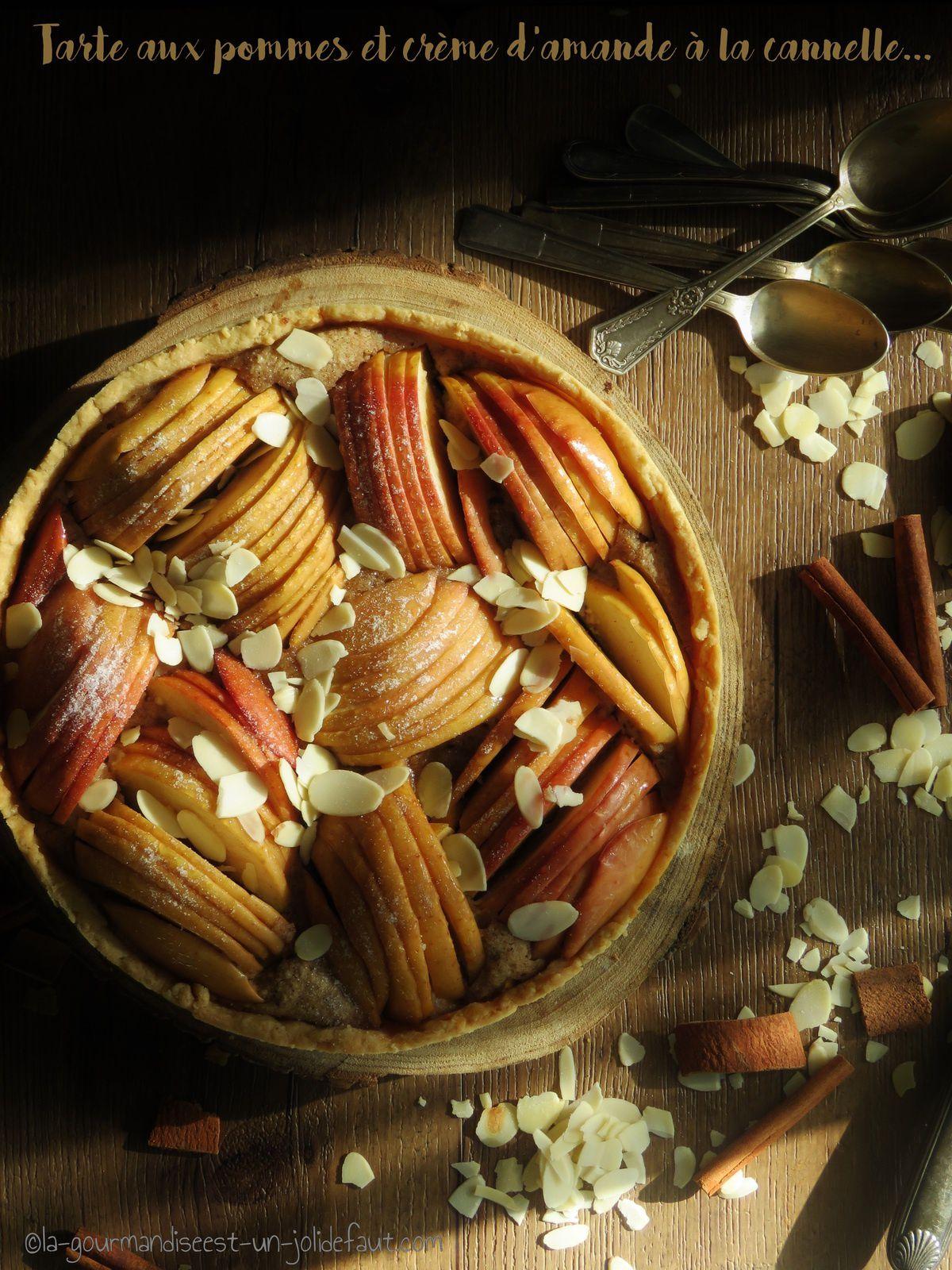 Tarte aux pommes et crème d'amande à la cannelle