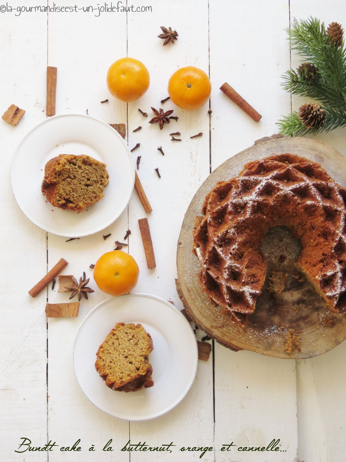 Bundt cake à la butternut, orange et cannelle