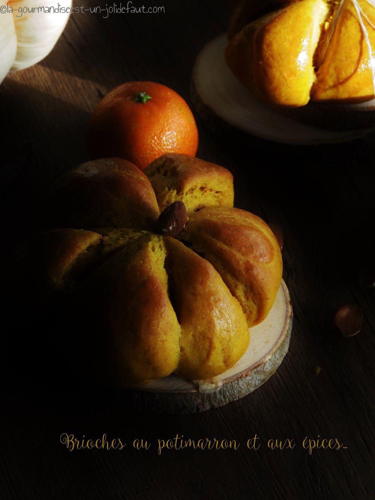 Brioches au potimarron et aux épices