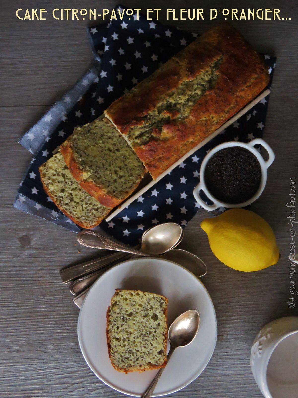 Cake citron-pavot et fleur d'oranger