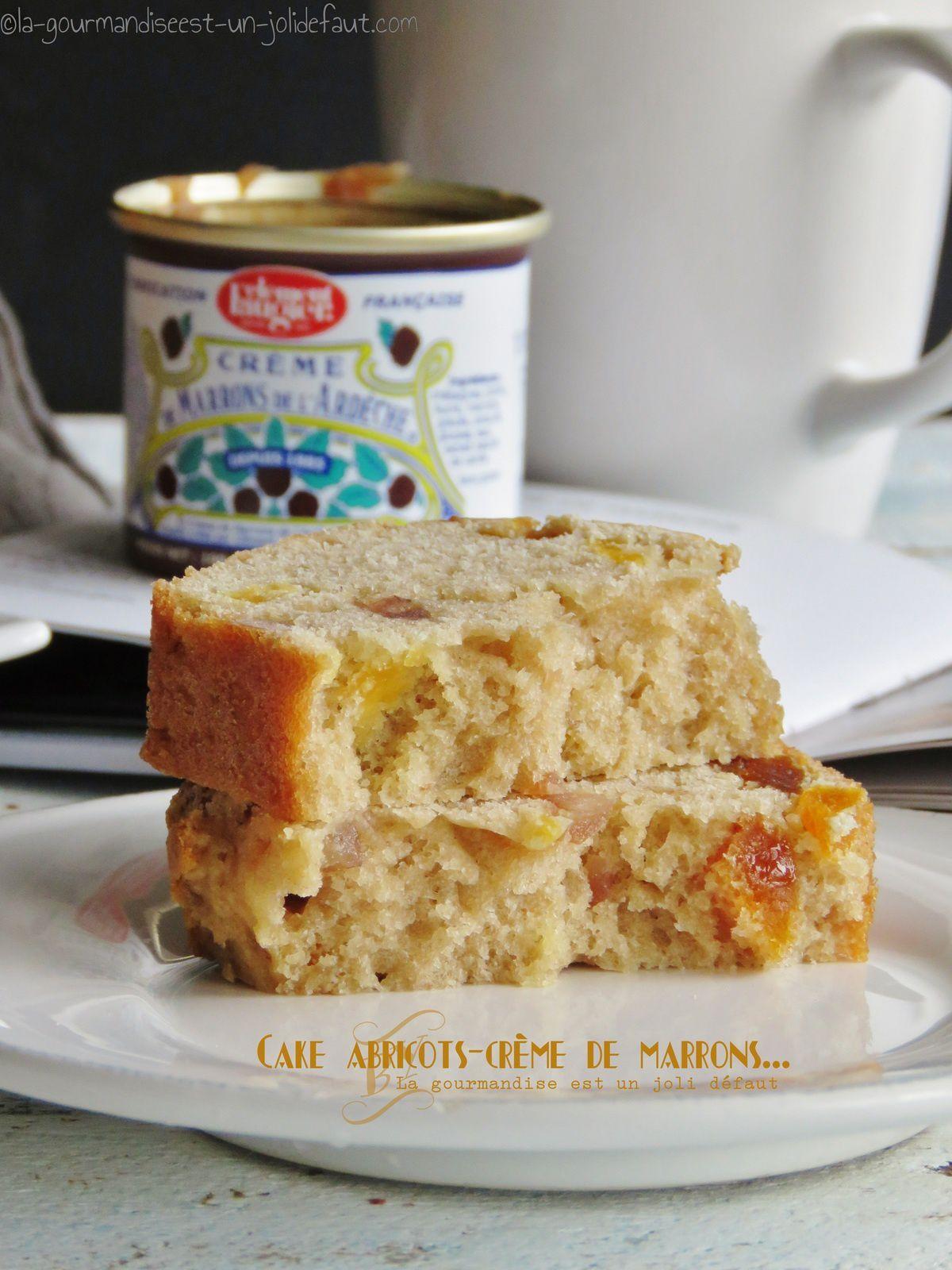 Cake à la crème de marron et aux abricots moelleux