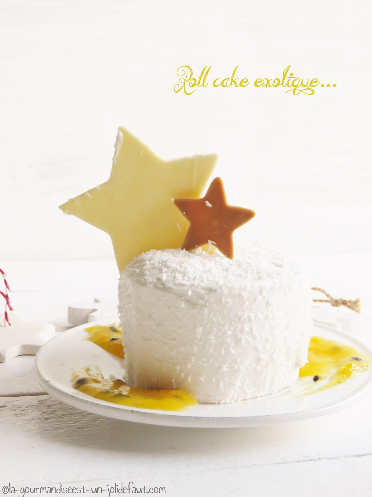 Roll-cakes exotiques