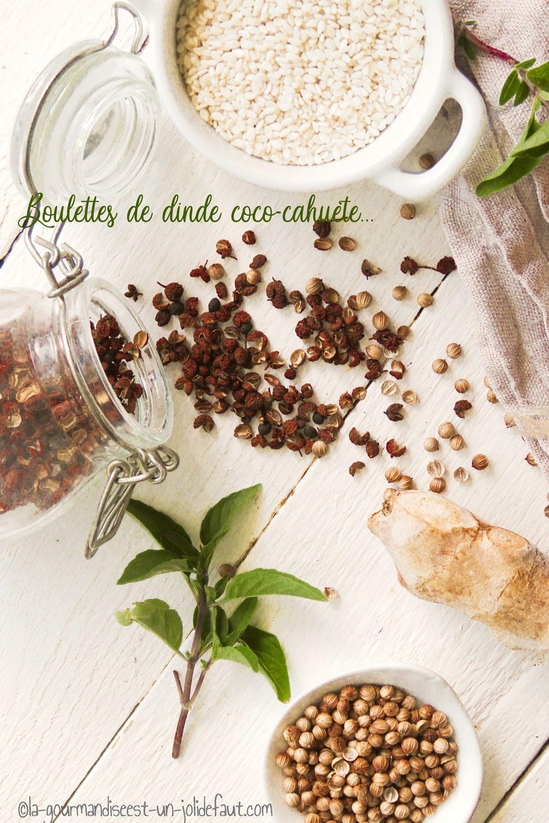 Boulettes de dinde coco-cahuète