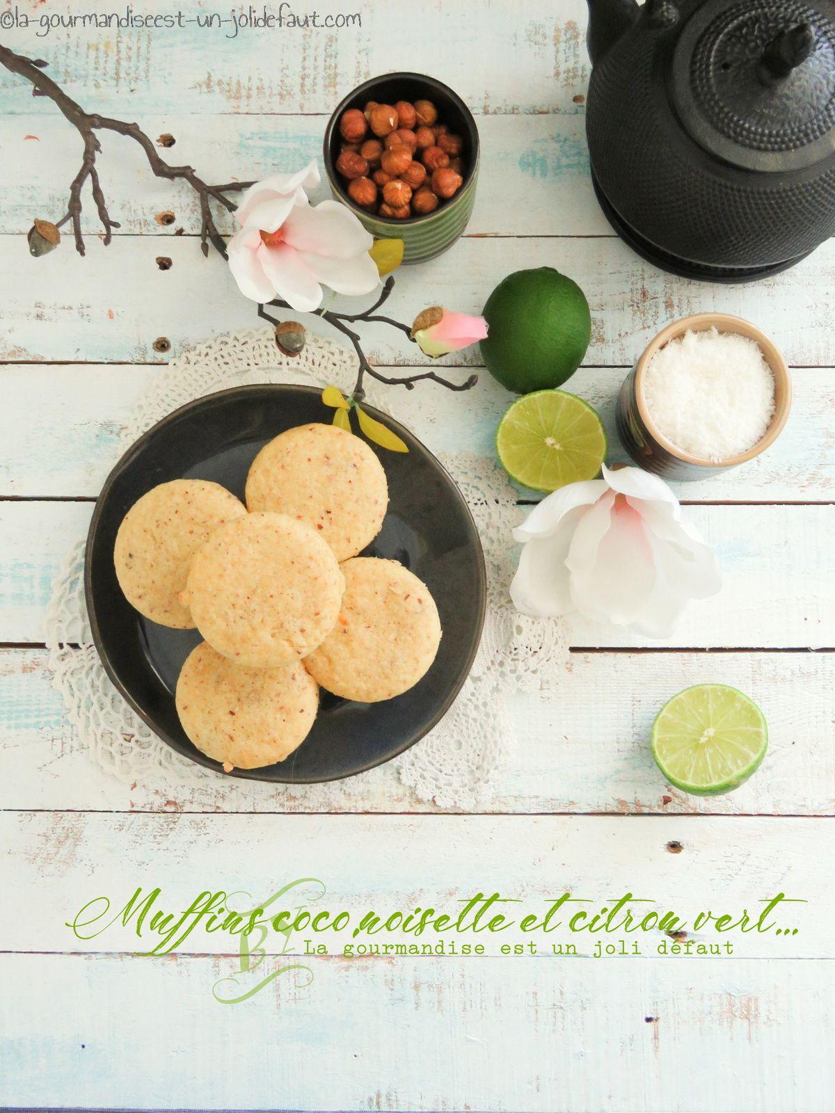 Muffins citron vert-coco-noisette
