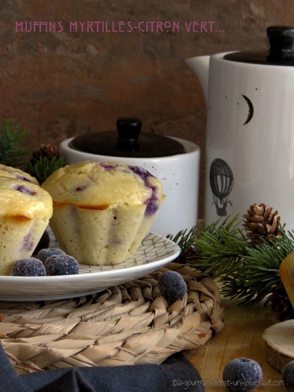 Muffins aux myrtilles et citron vert
