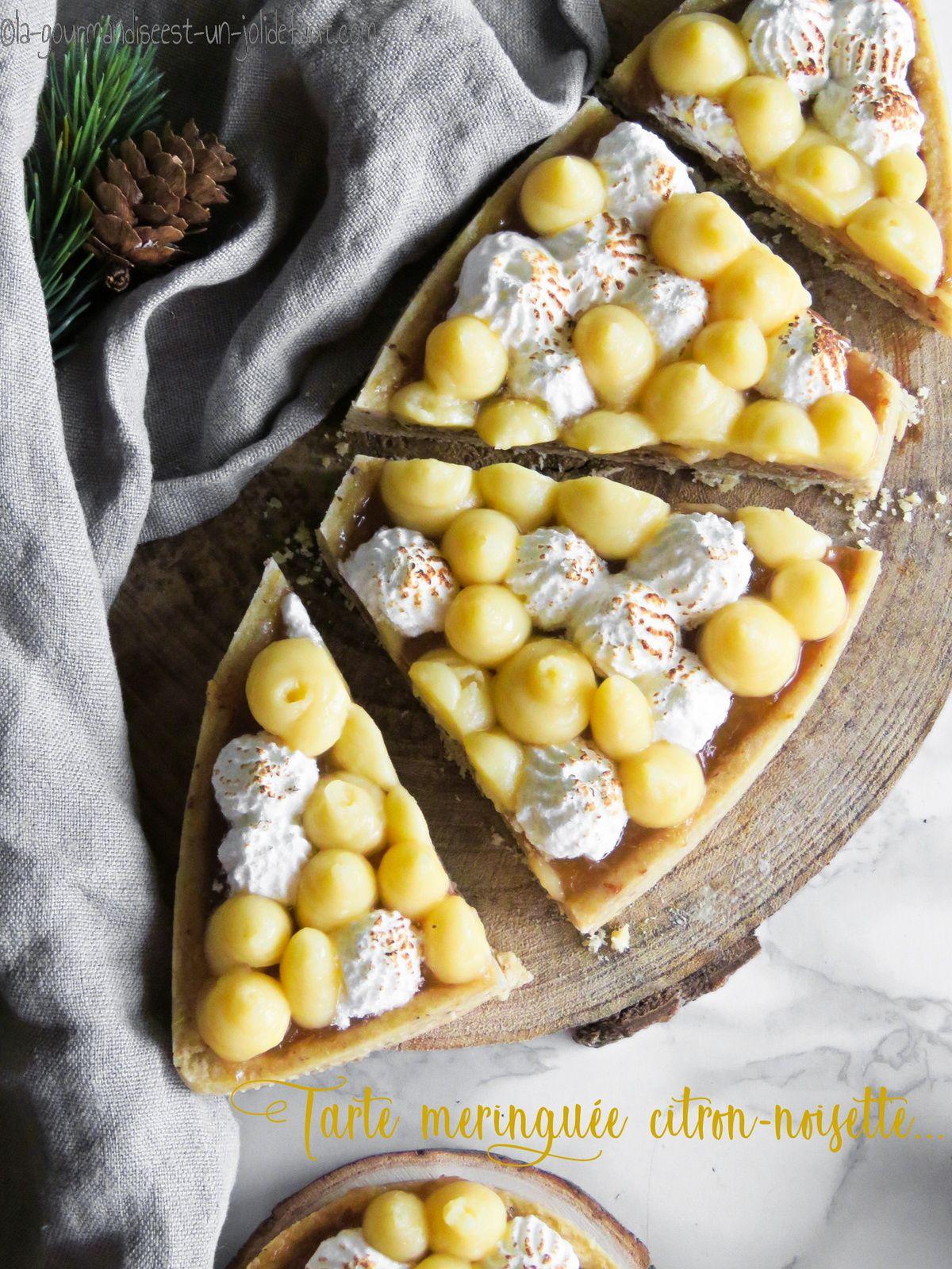 Tartelettes meringuée citron-noisette