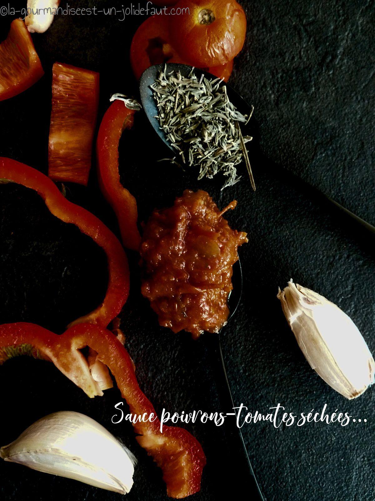 Sauce poivrons-tomates séchées {en conserve}