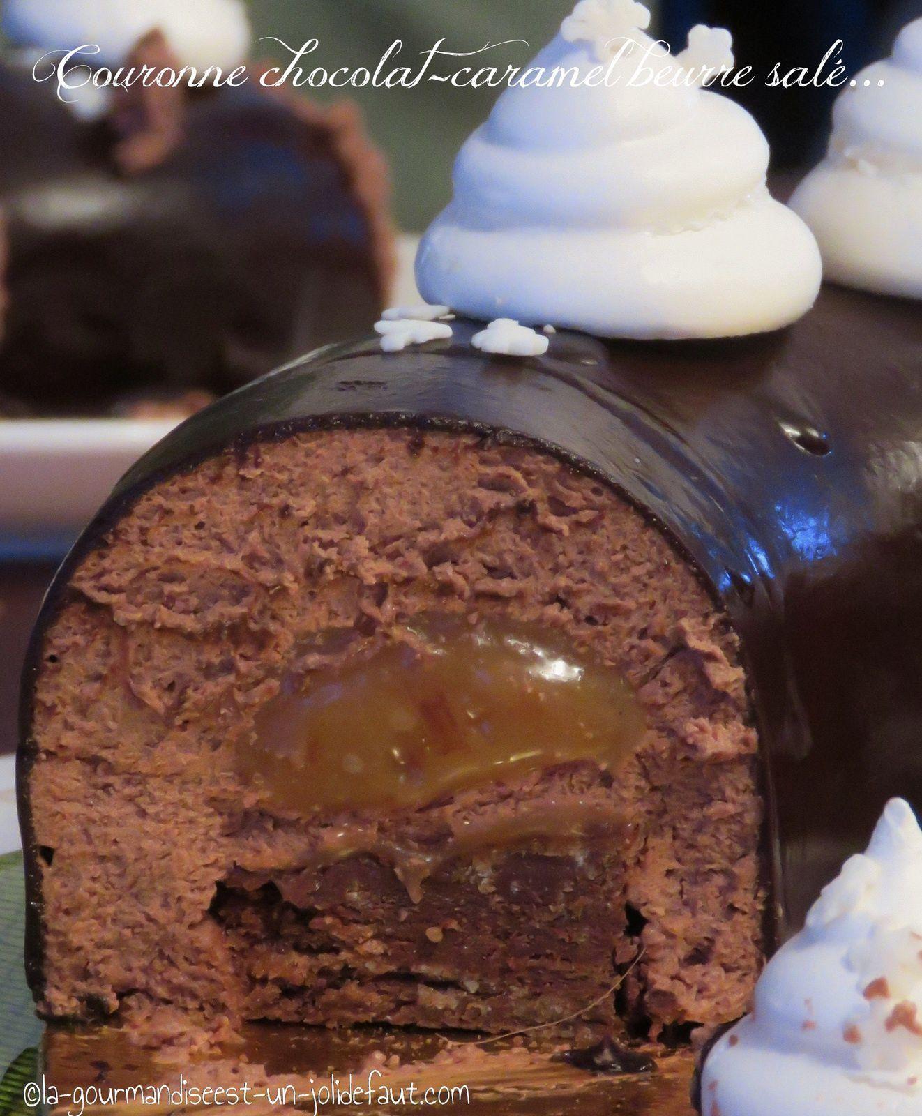 Couronne chocolat-caramel au beurre salé