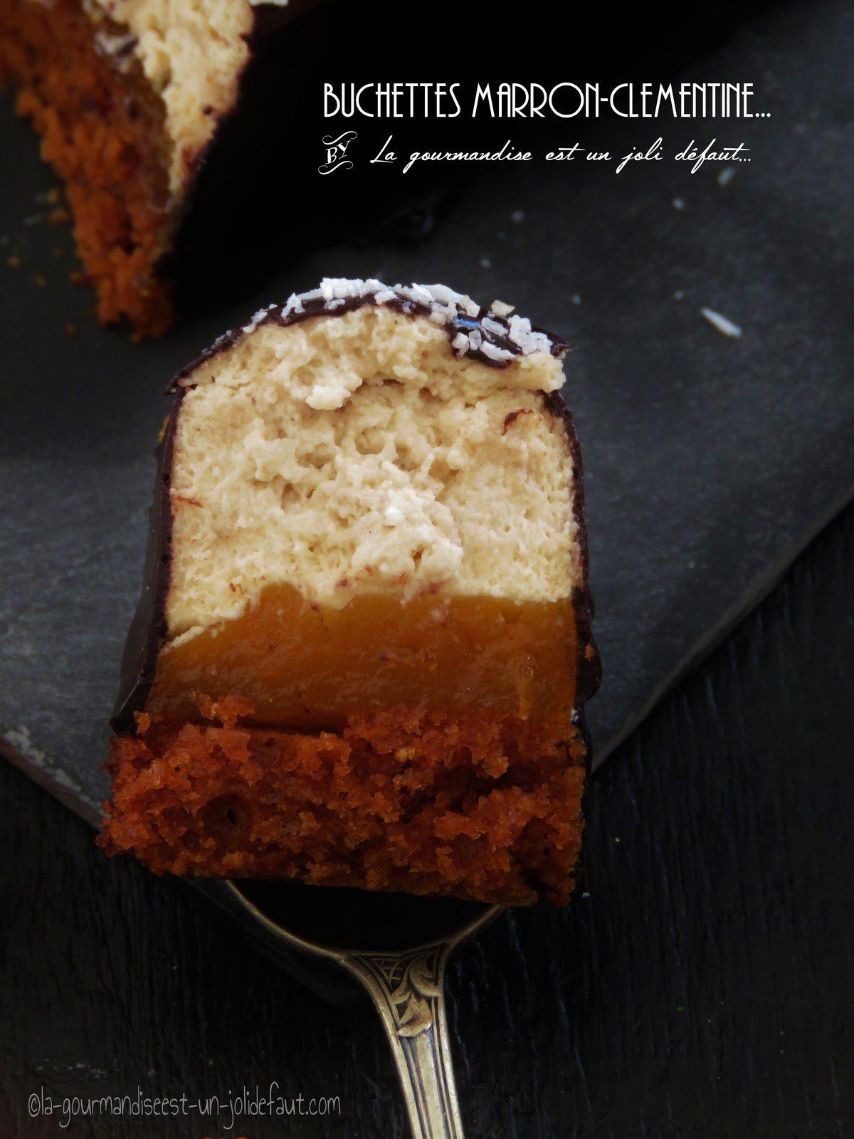 Buchettes marron-clémentine