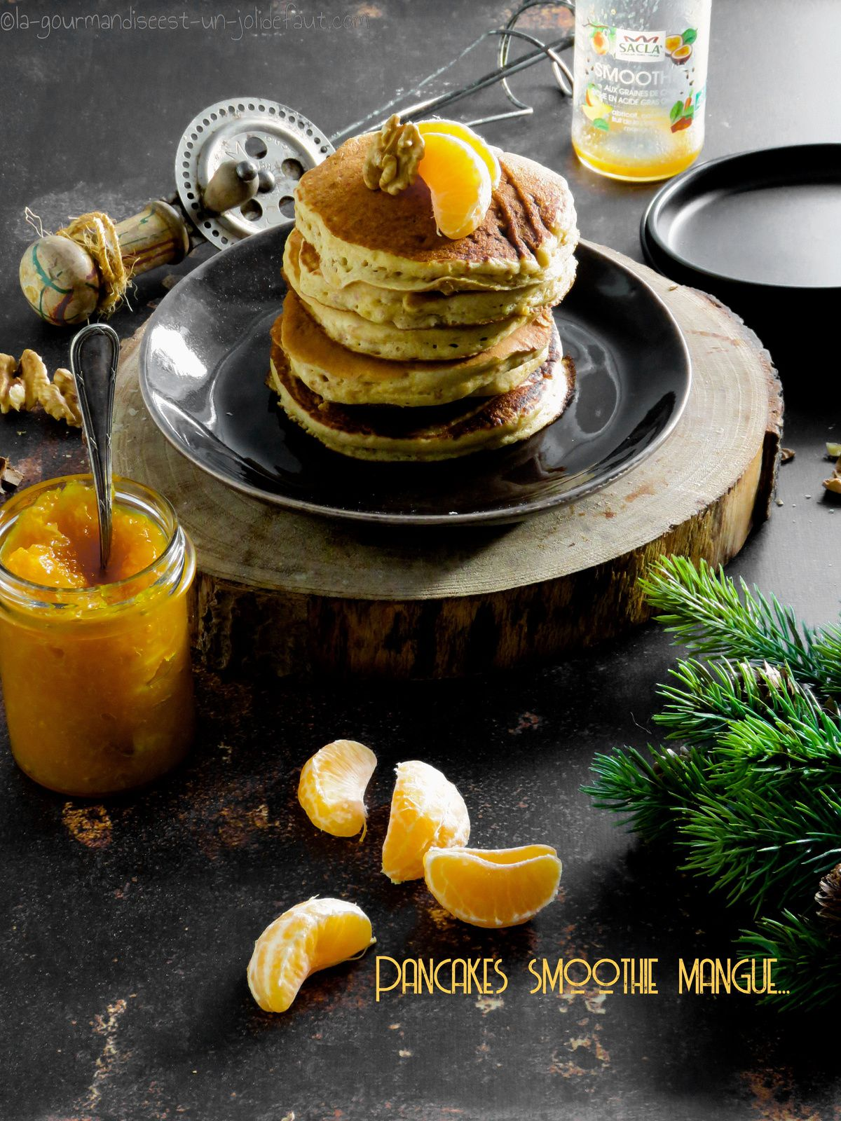 Pancake au smoothie mangue-passion...