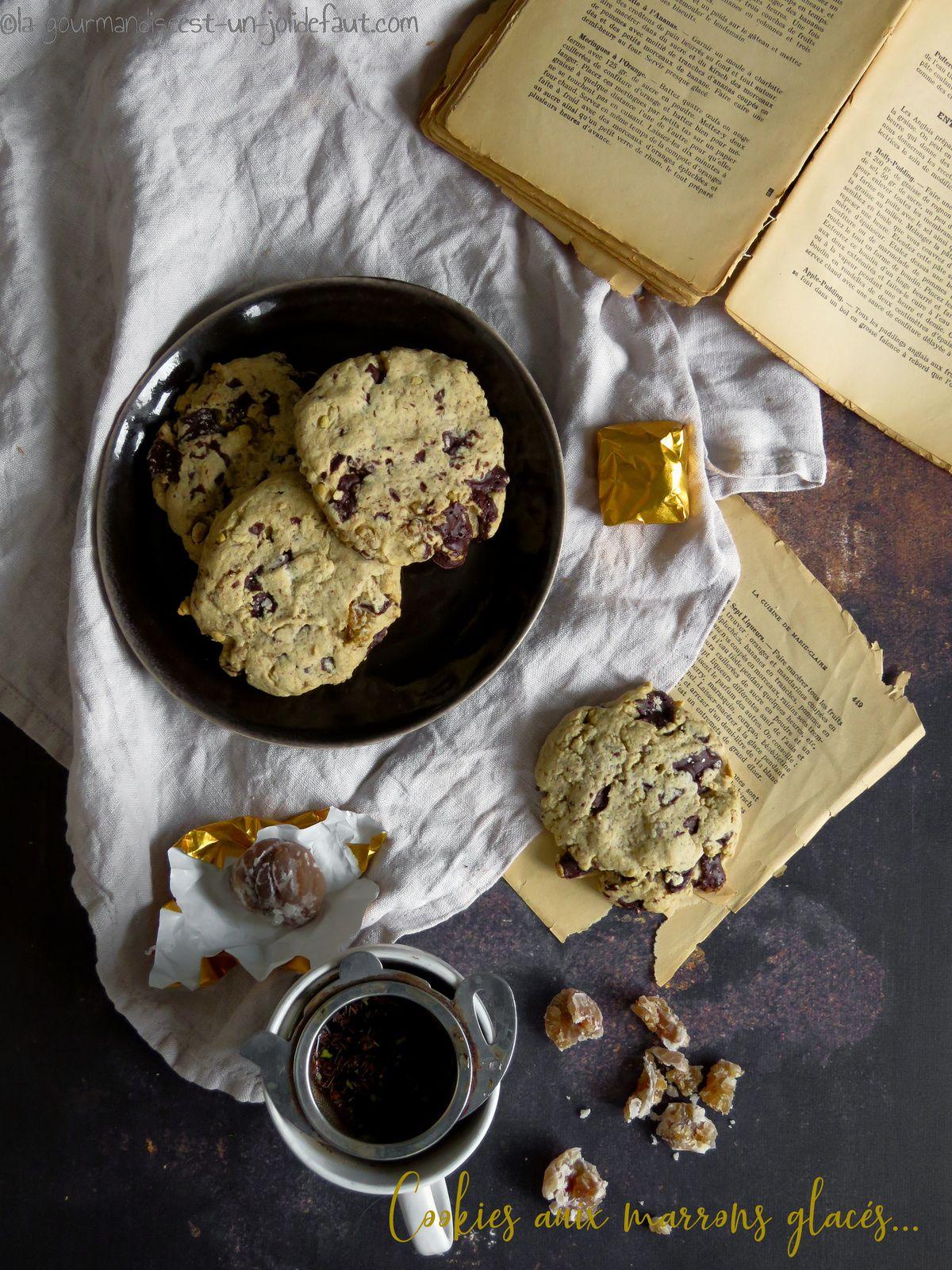 Cookies aux marrons glacés et pépites de chocolat