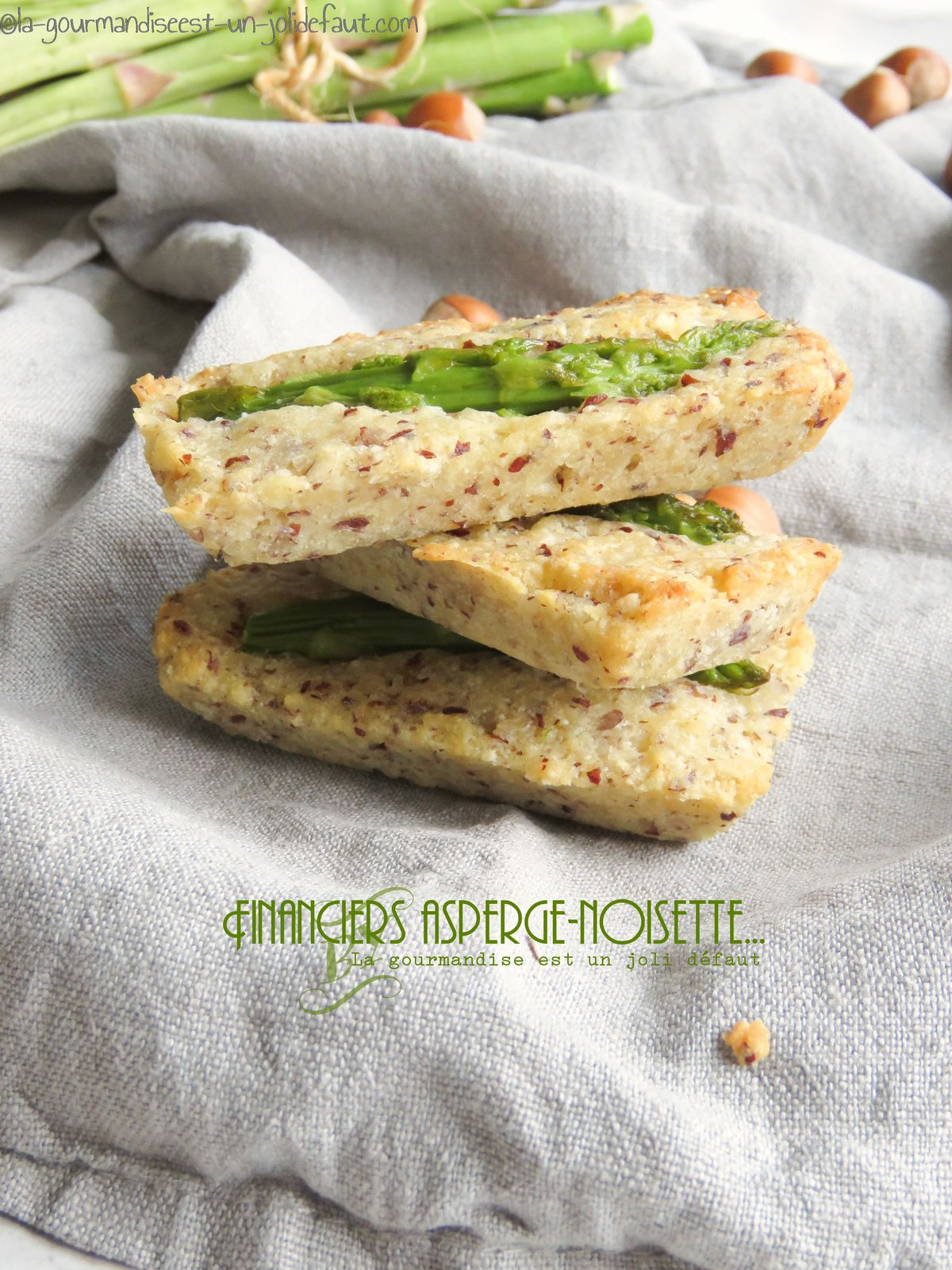 Financiers asperge-noisette