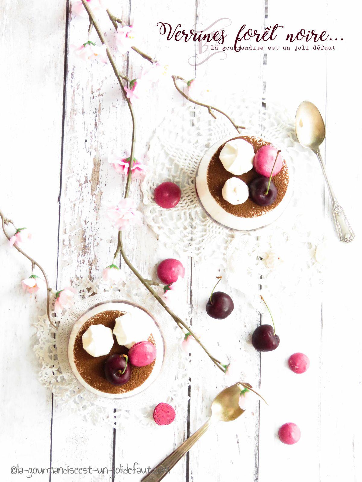 Verrines chocolat-cerise comme une forêt noire...