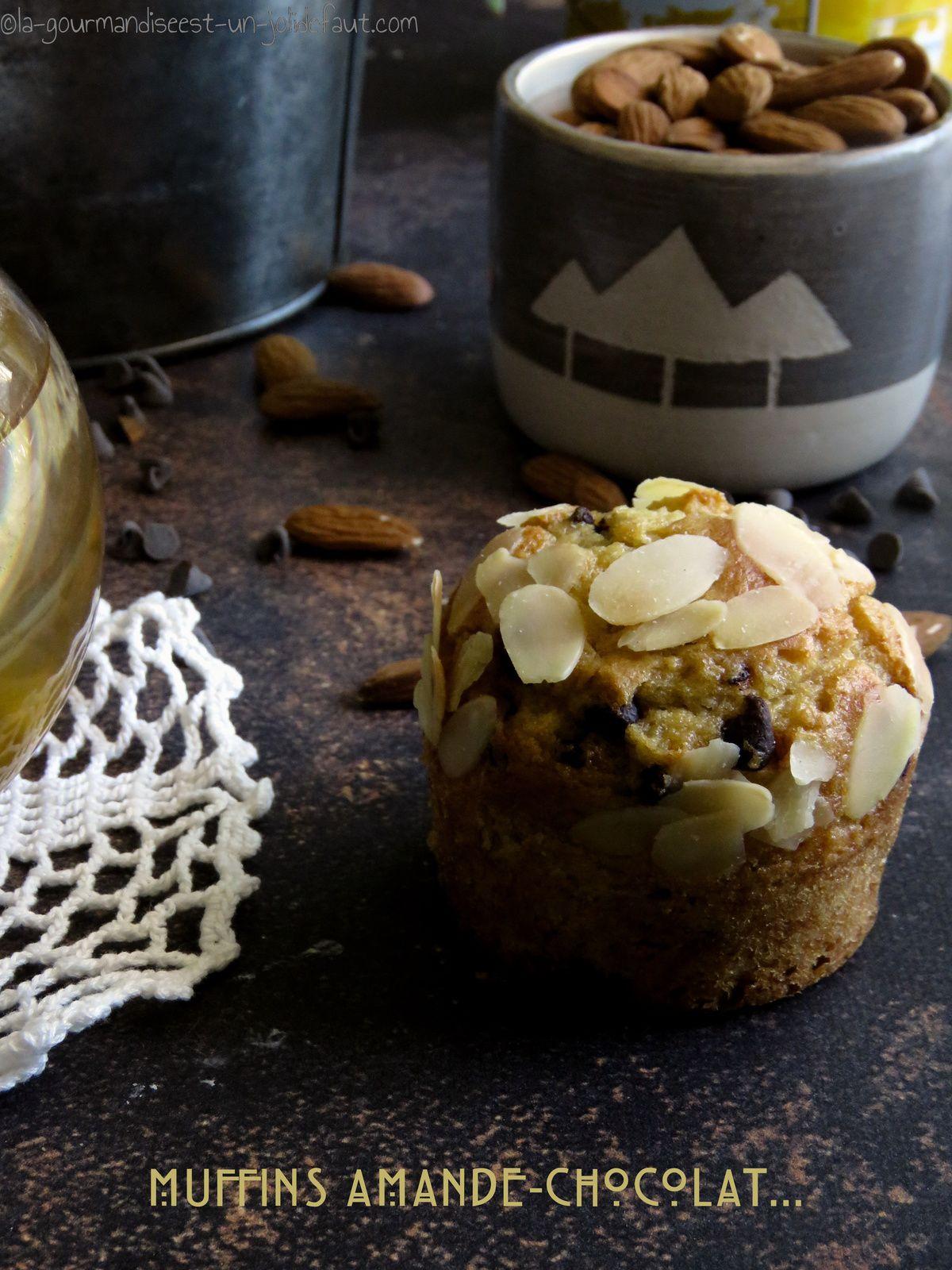 Muffins amandes-pépites de chocolat