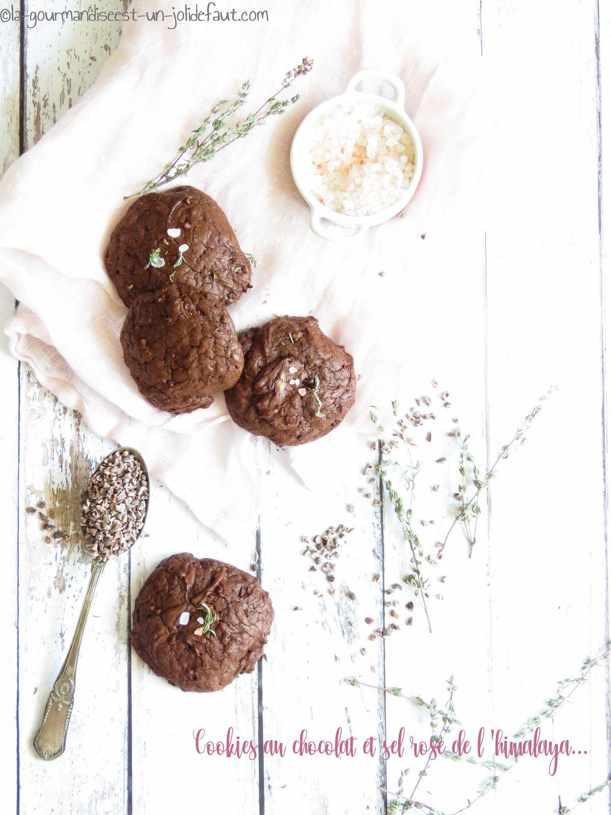 Cookies au chocolat et fleur de sel rose de l'himalaya