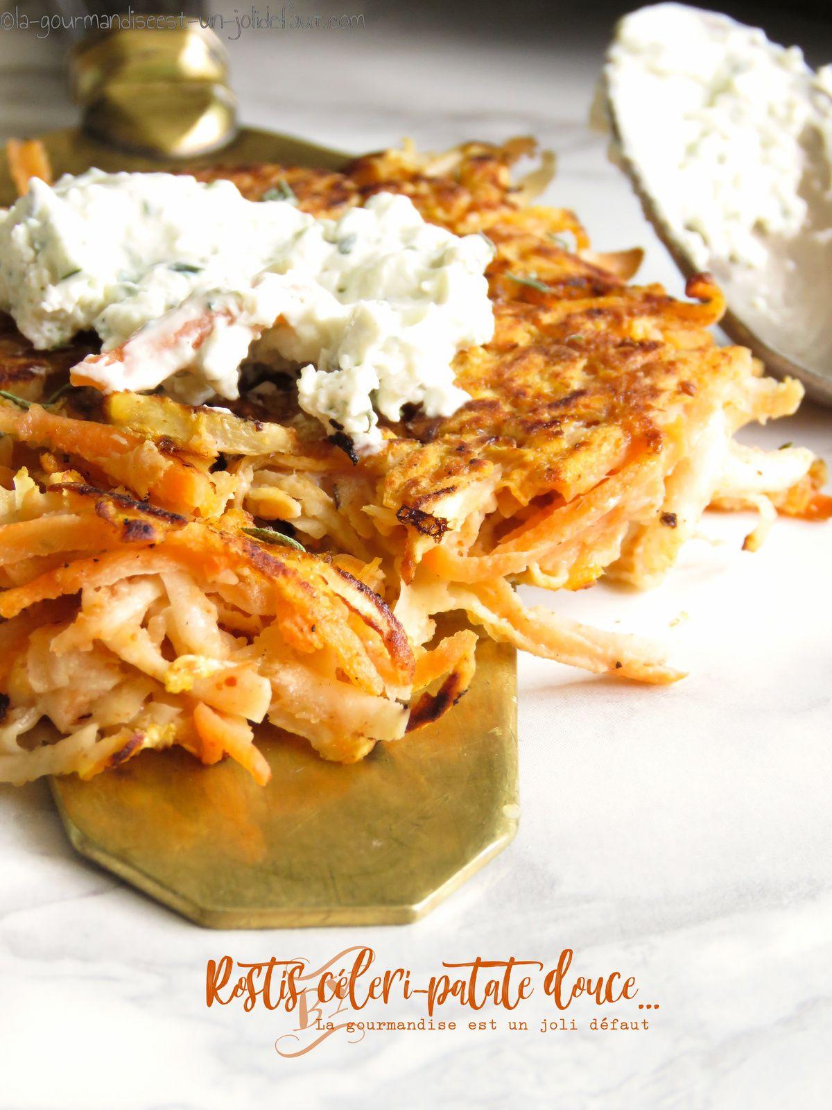 Röstis de patates douce et céleri
