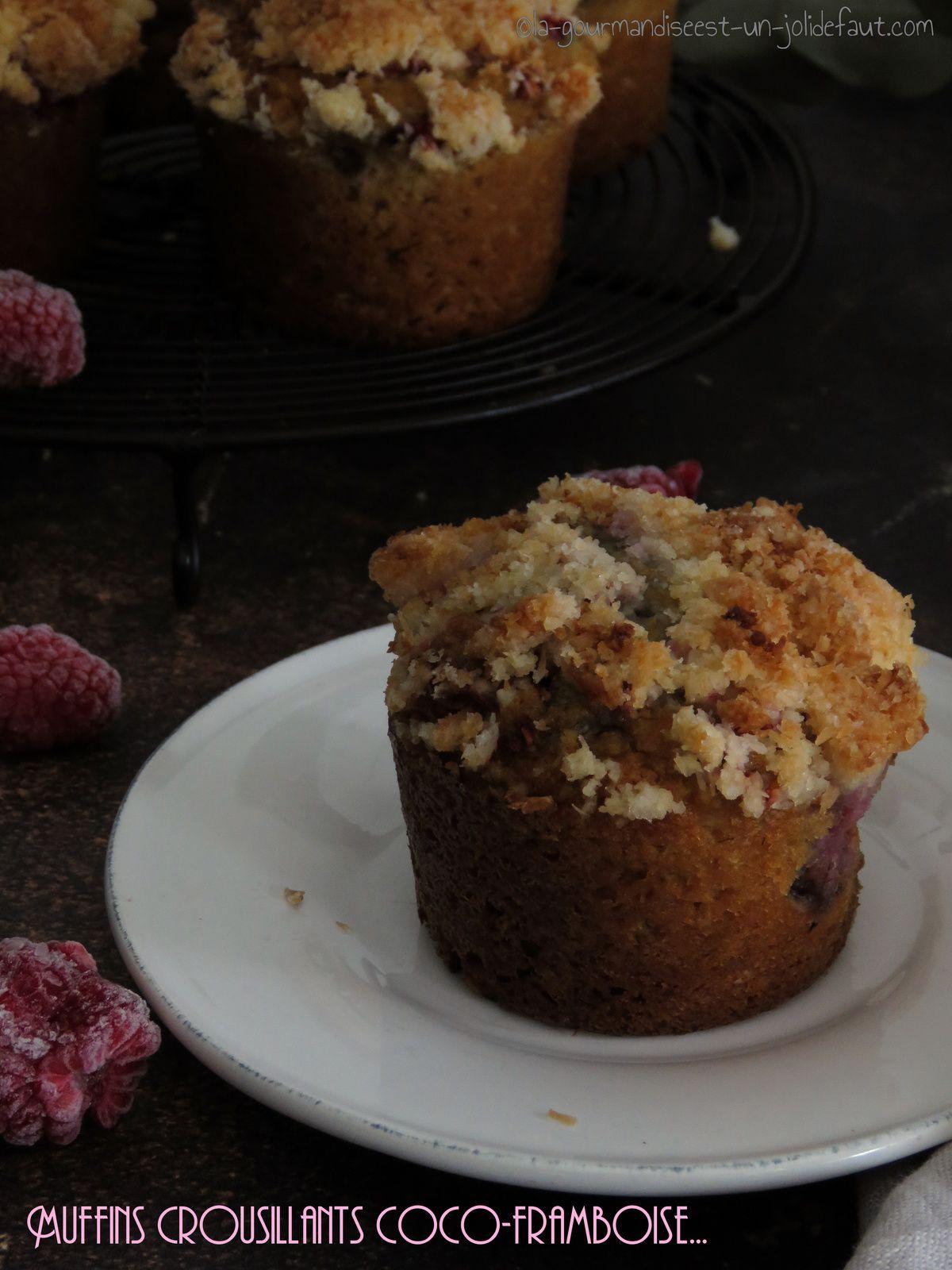 Muffins croustillants coco-framboise