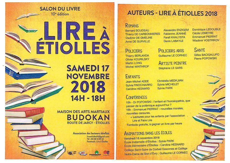 LIRE à ETIOLLES , samedi 17 novembre