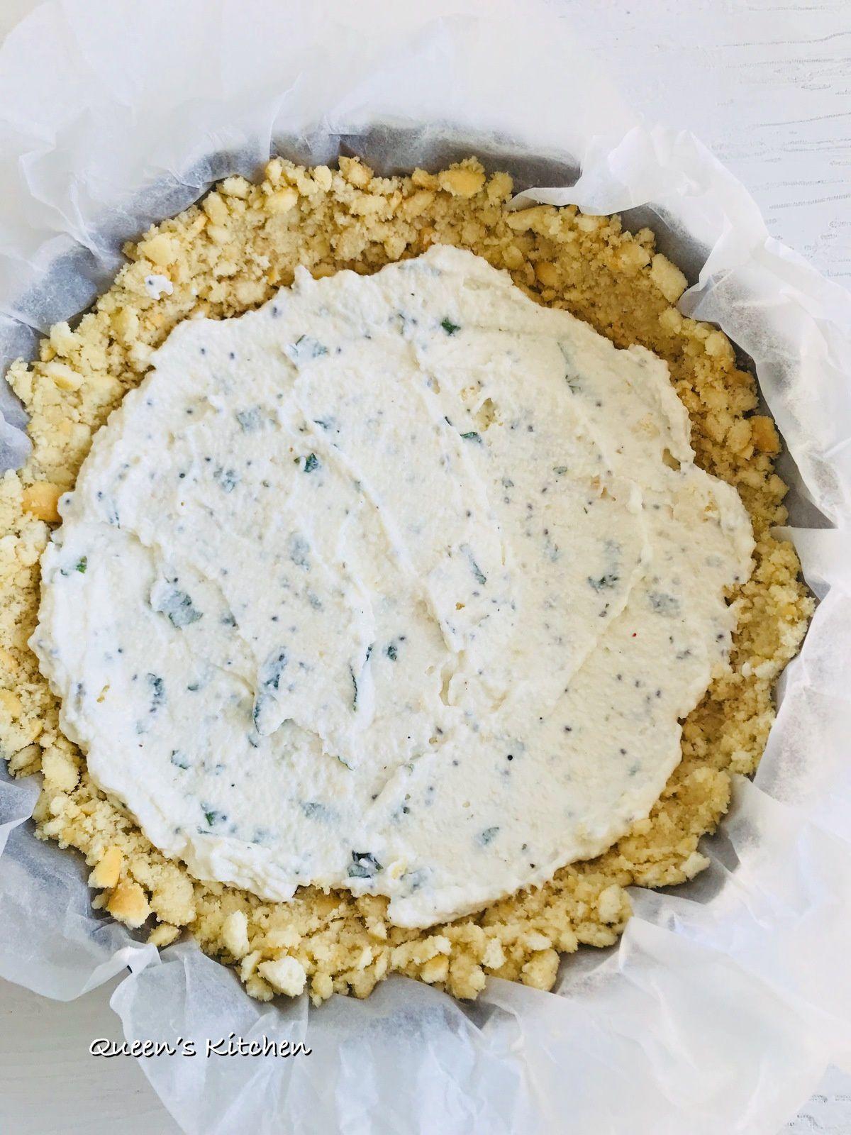 Disponiamo le fettine di zucchina come fossero le strisce di pasta della crostata...