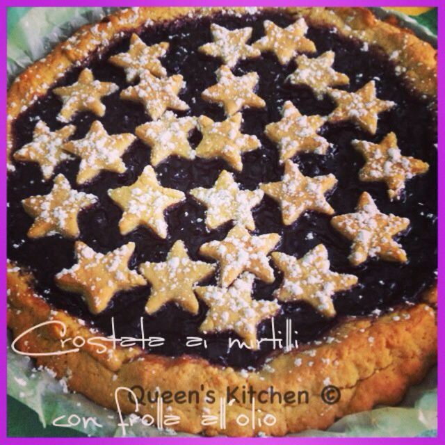 crostata con pasta frolla all'olio
