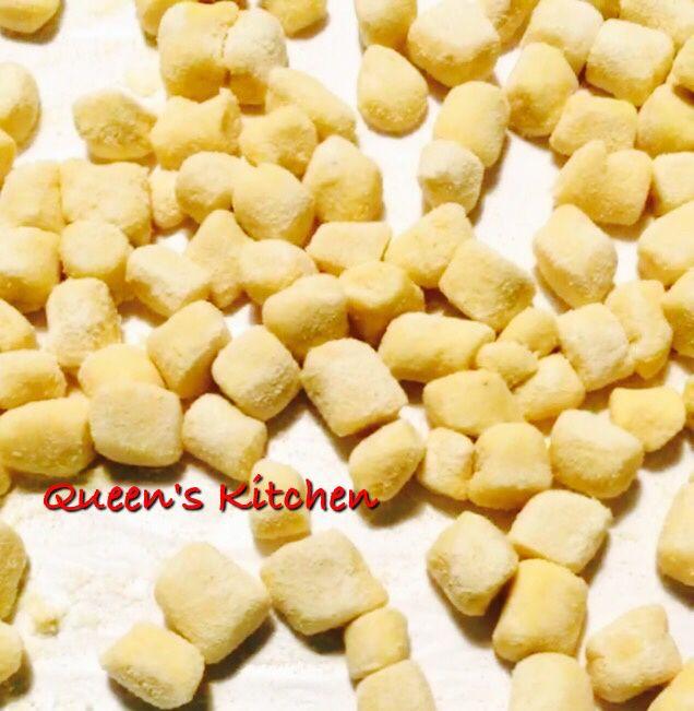 gnocchi alle vongole e crema di zucca