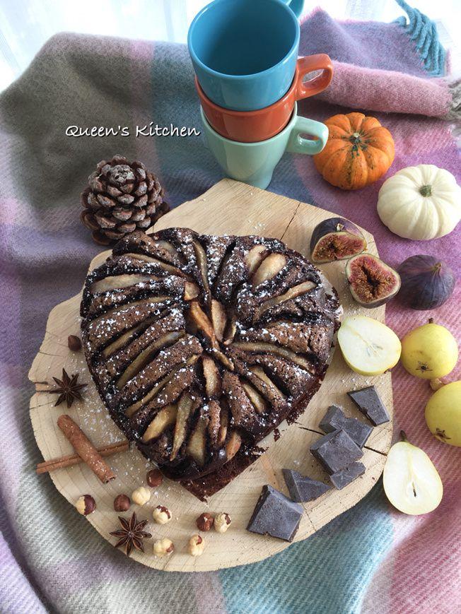 cuore di pere al cacao