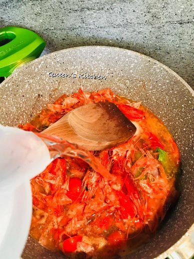 risotto con gamberi rossi lime e melagrana