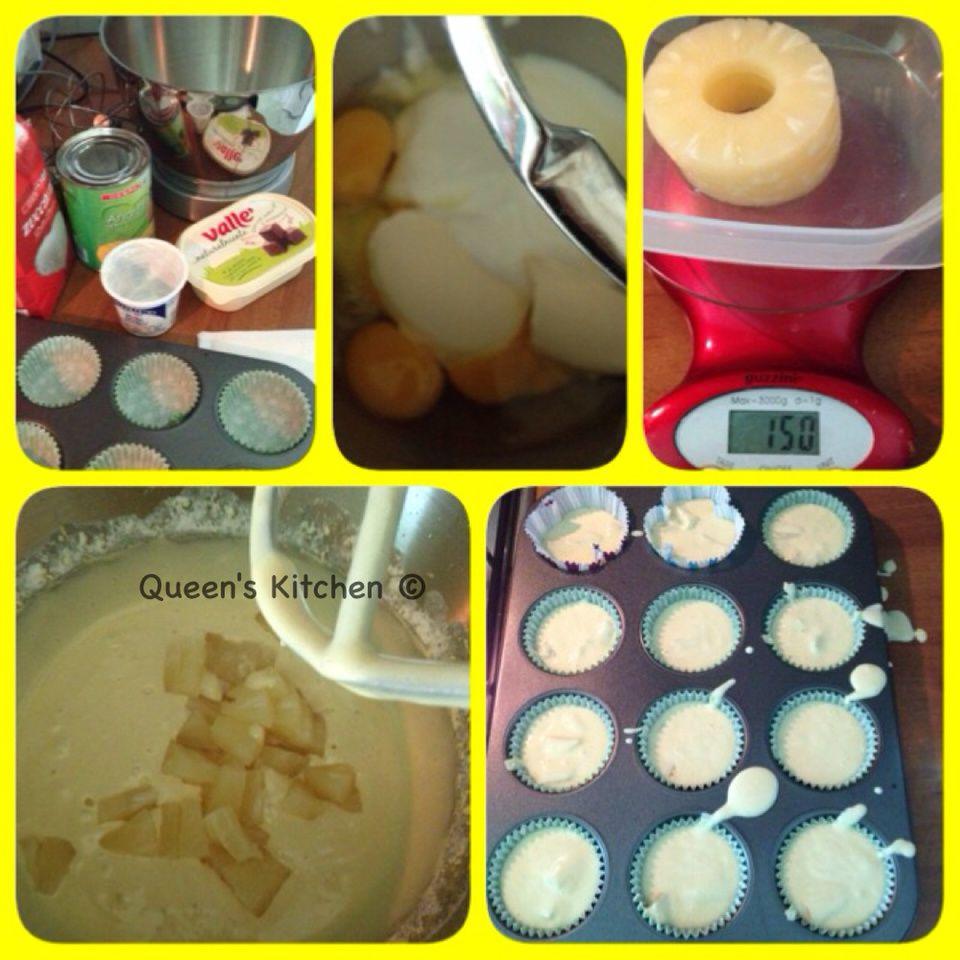 muffins yogurt & ananas