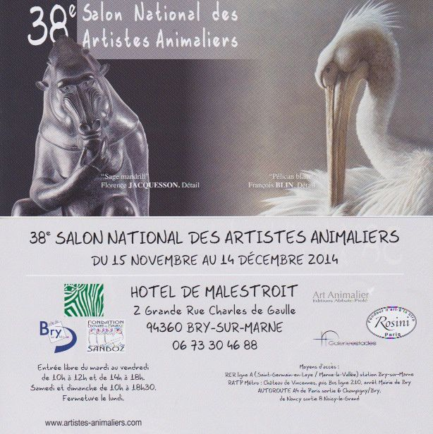 Le  Salon National des  Artistes Animaliers par Paule Briday