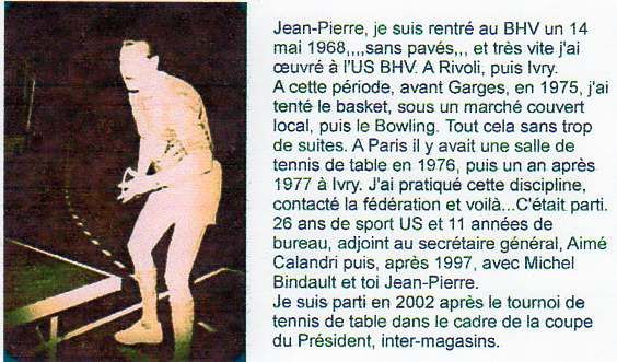 US BHV Période 1 …Tennis de table 1/2