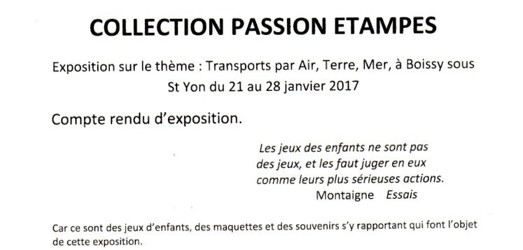 2017 « Collection passion, quand tu nous tiens » par Jean-Pierre Franssens