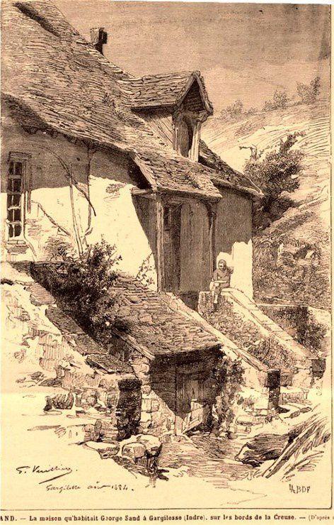 Maison de Georges Sand Le monde  illustré 16 août 1884