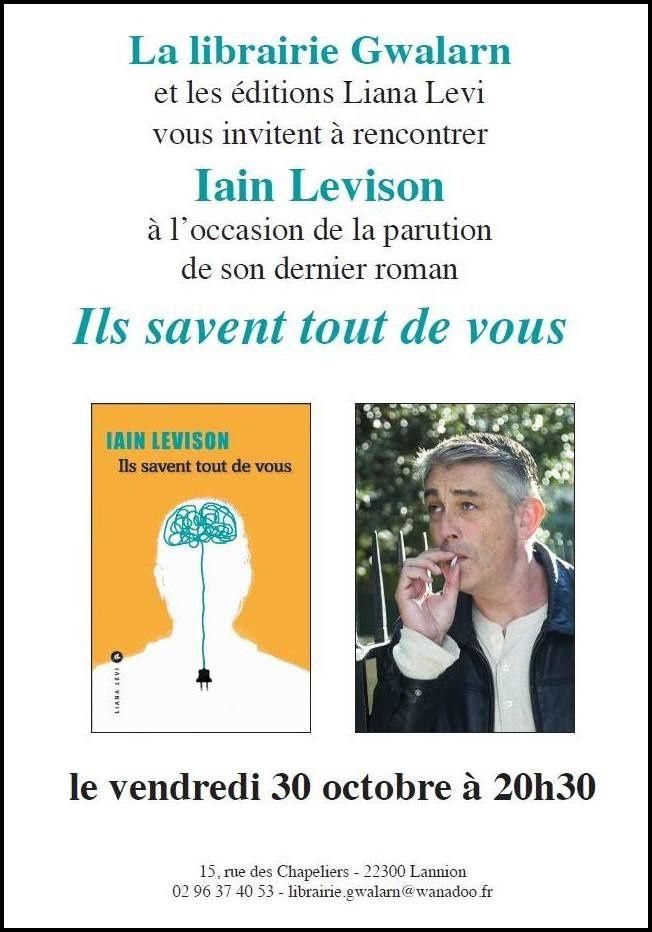 Rencontre avec Iain Levison