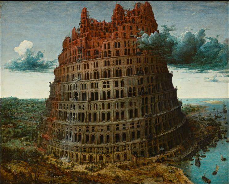 Bruegel l'Ancien / Babel.... (= obligation de faire effort pour échanger!)