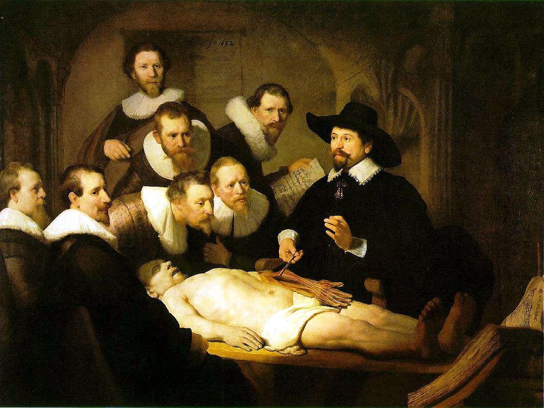 TIERS SÉPARATEUR (épistémophilie...) / La leçon d'anatomie, Rembrandt