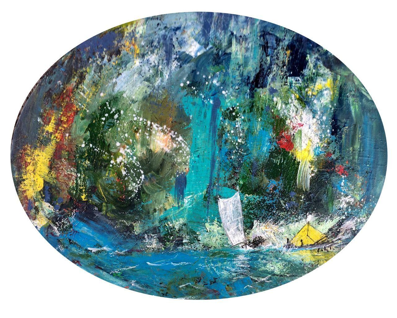 Acryl/toile 40/50 cm