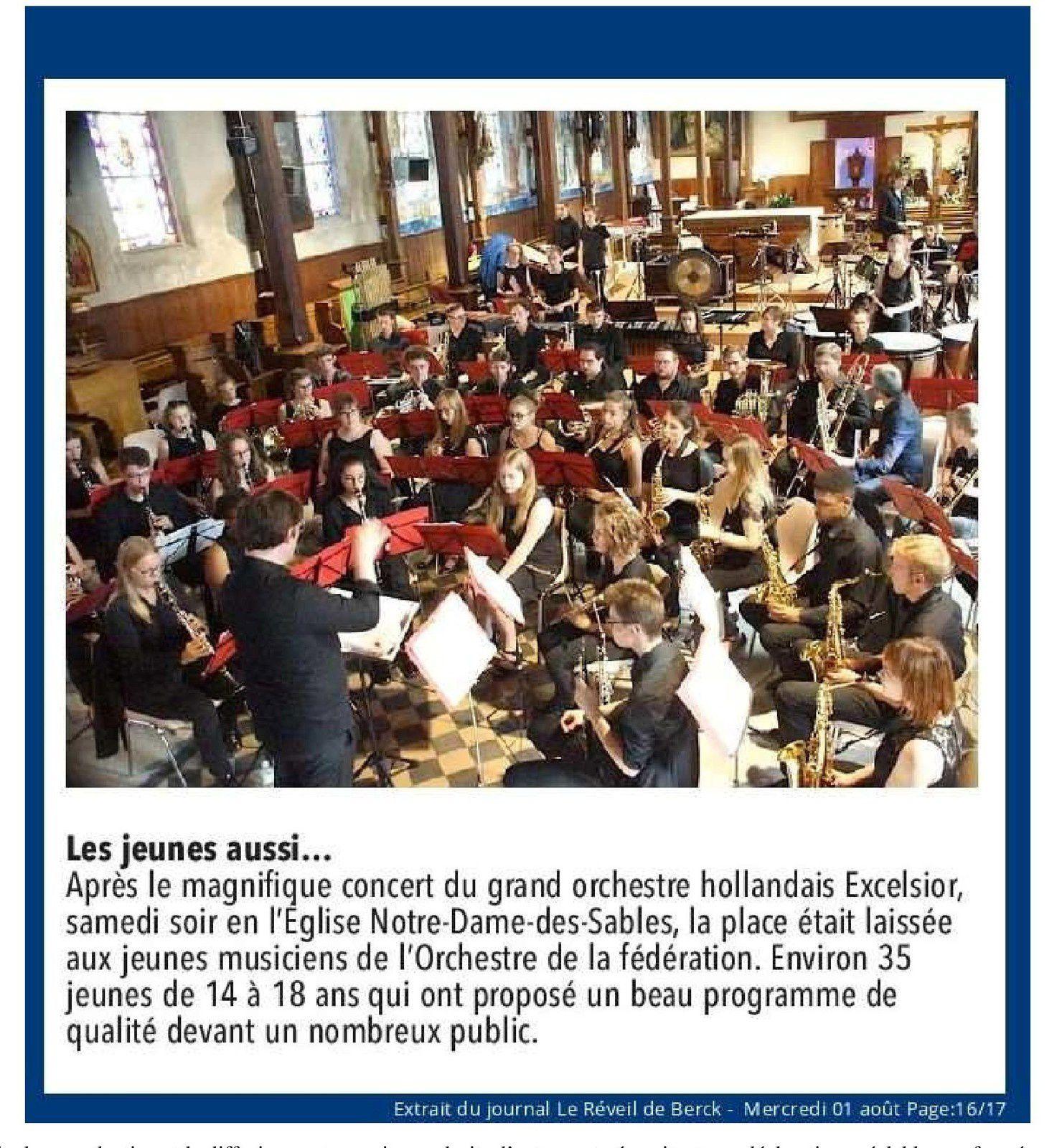 L'Orchestre des Jeunes de la Fédération en concert à Berck sur Mer
