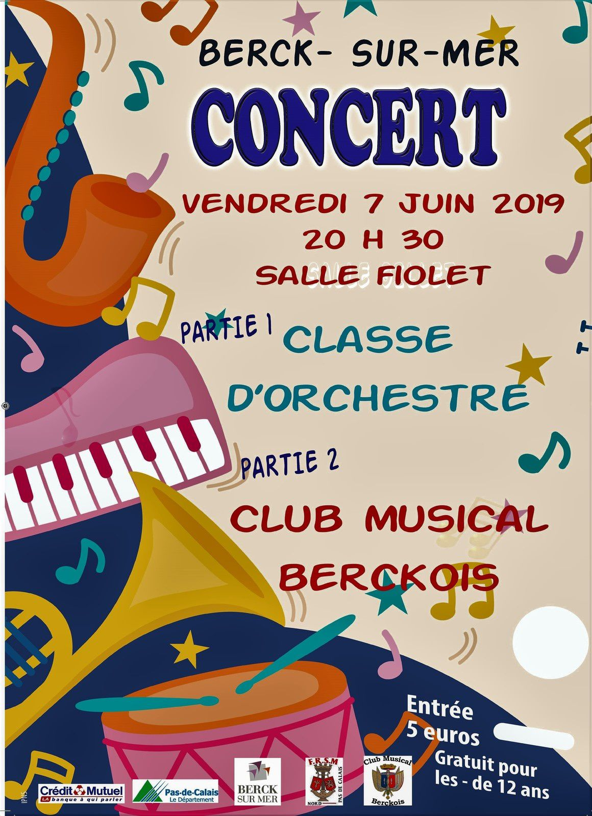 VENDREDI 7 JUIN 2019 - Concert de Printemps du Club Musical Berckois