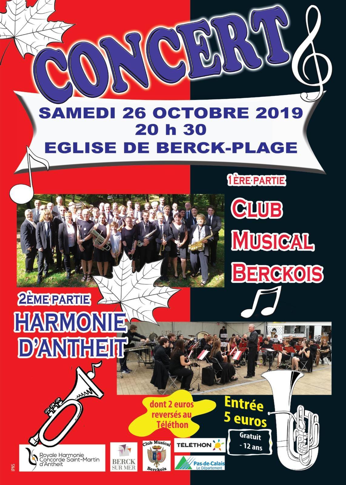 Concert en l'Eglise Notre Dame des Sables - Samedi 26 octobre 2019 à 20h30