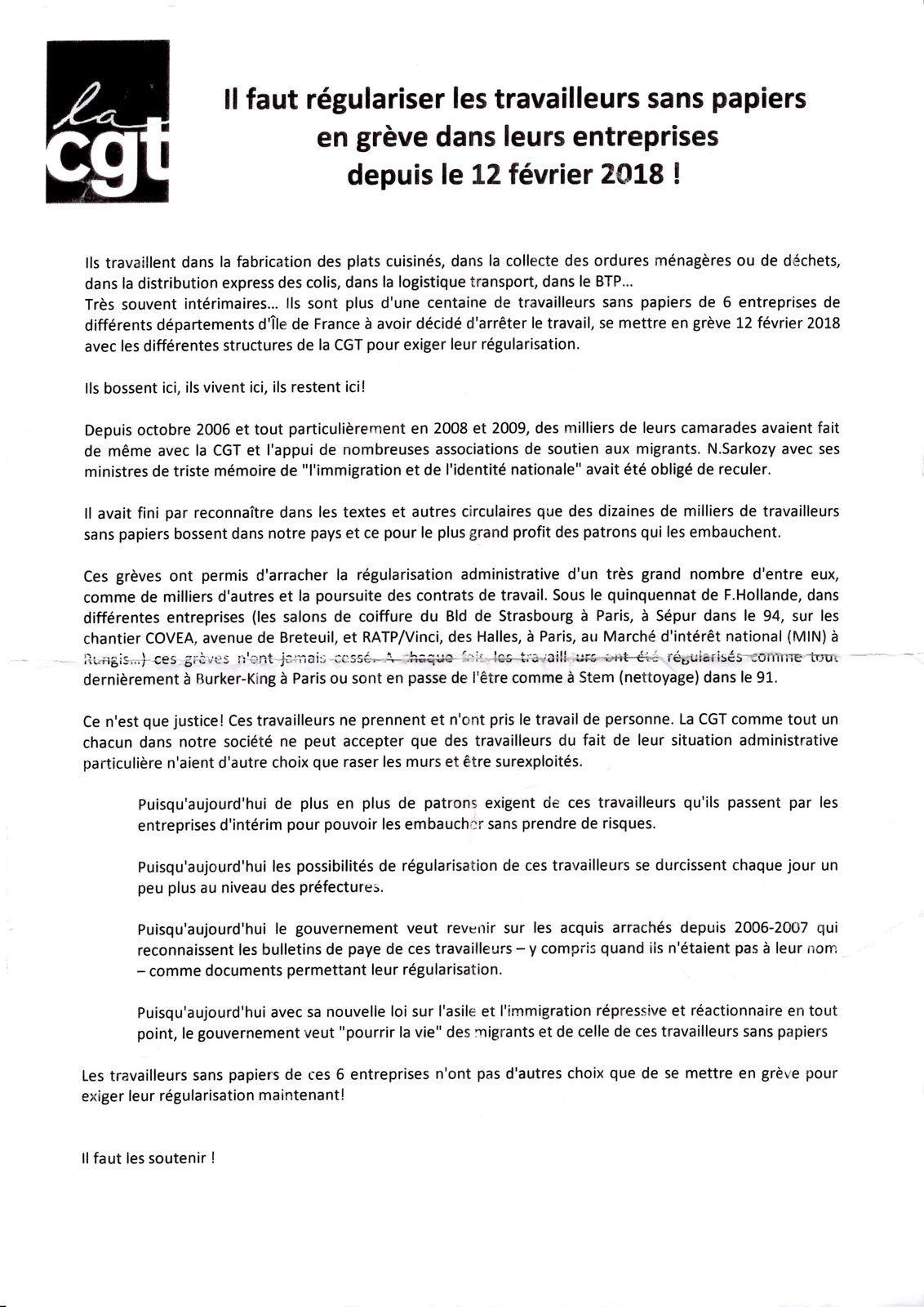 Grève chez GLS à Roissy, il faut régulariser les travailleurs sans papier !