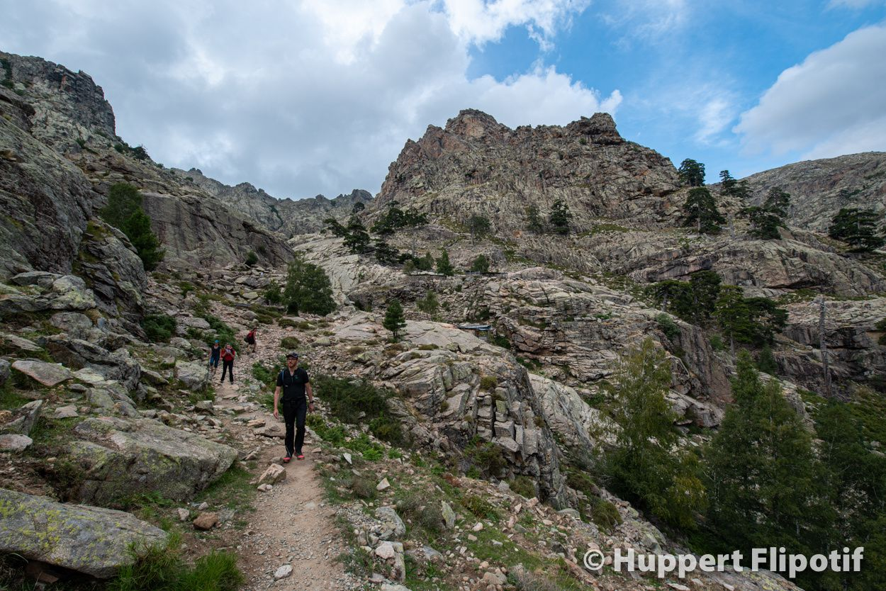Ambiance haute montagne au col du Vergio sur le GR20