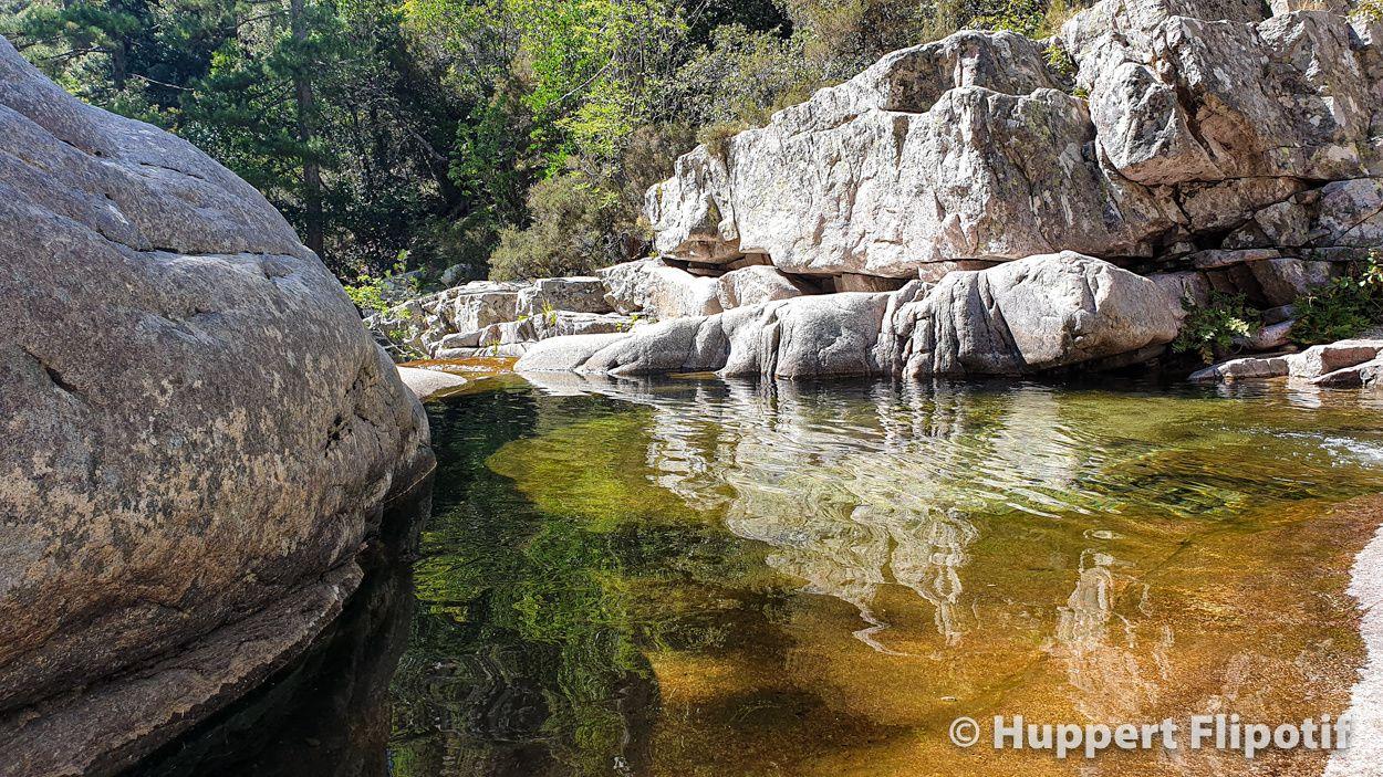 La foêt d'Aitone et ses vasques naturelles, le village d'Evisa