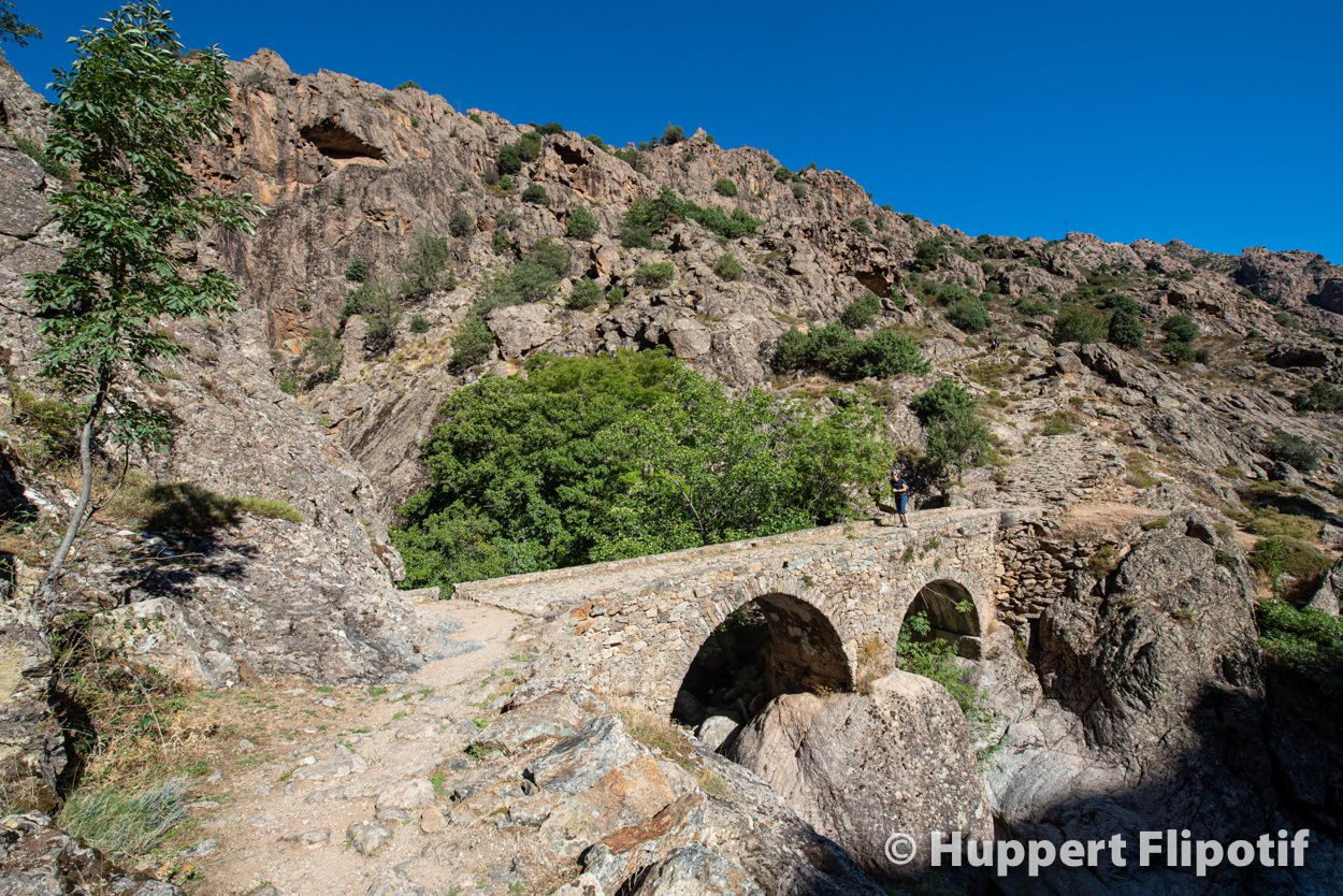 Corse : De corte à Calacuccia par la scala di santa-regina. Vallée pastorale du Niolu.