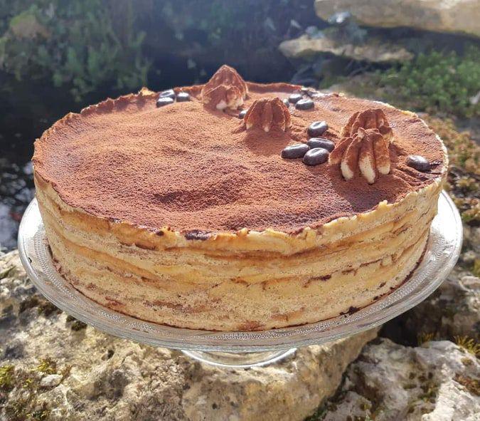 Le gâteau de crèpes façon tiramisu